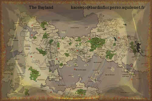 Dashvara, fantasy: Hareka World's map
